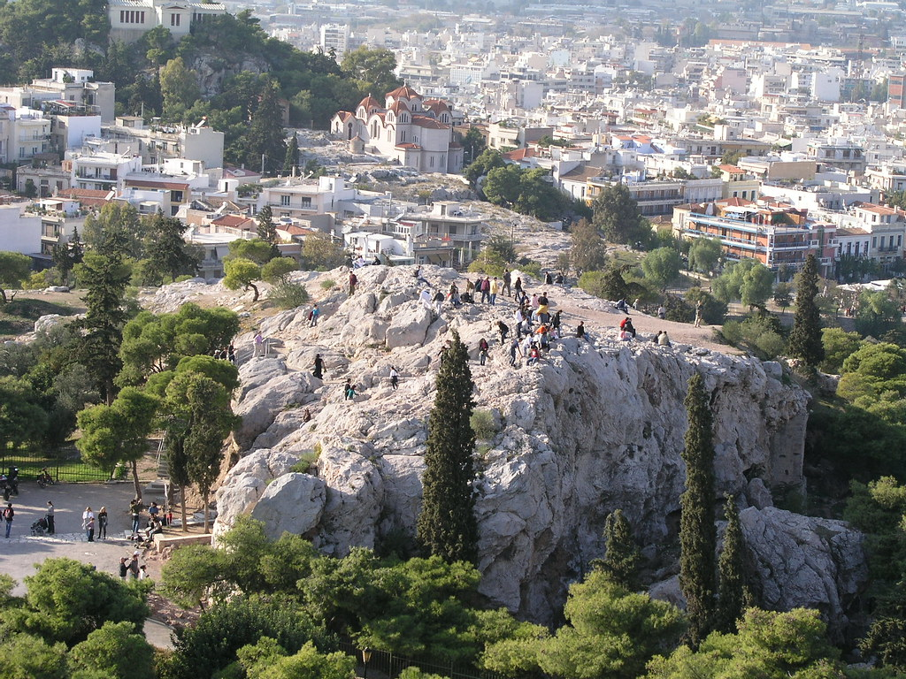 Mars Hill, Athens  This is Mars Hill, or the Areopagus ...