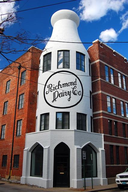 richmond dairy milk bottle building explore