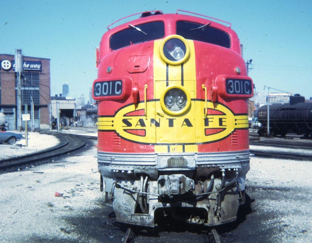 Santa Fe F Unit Santa Fe Coach Yard In Chicago 1972