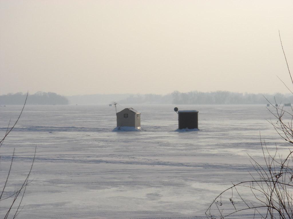 ice houses on lake minnetonka