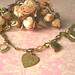 Hearts and butterflies brass necklace