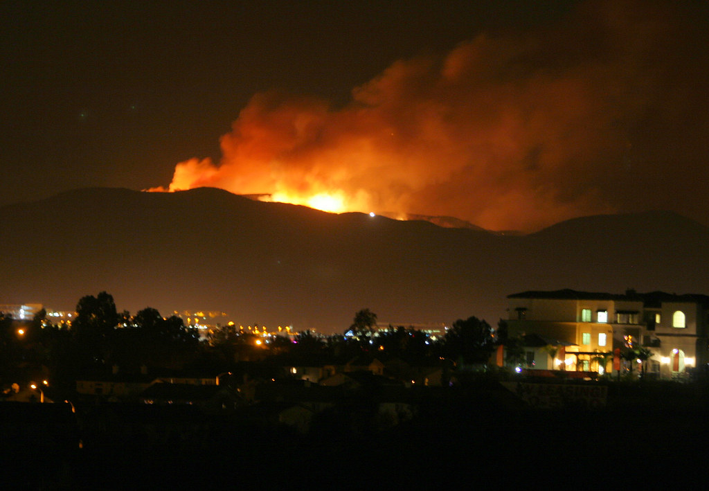 De Luz Temecula Fire When It Was Raging This Morning Flickr