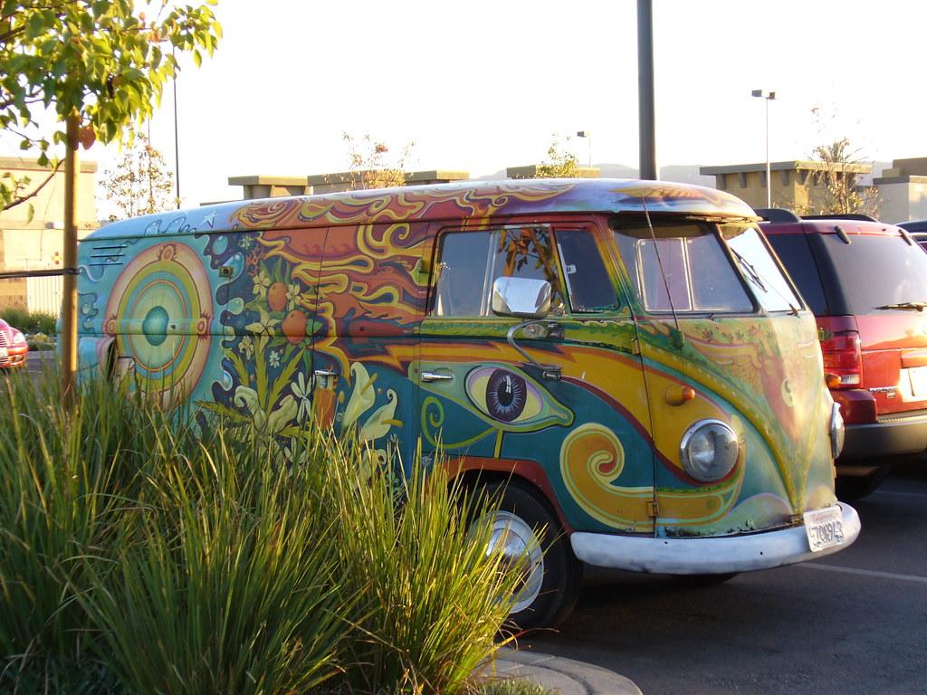 Hippie Buses Psychedelic Volkswagen Van Volkswagen Bus Bug Van Psy Flickr