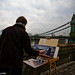 Day 28:  Hammersmith Bridge Painter