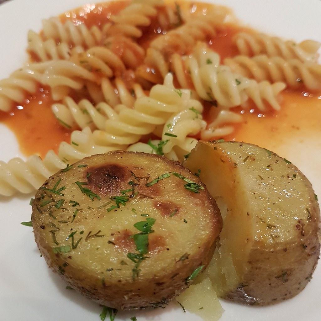 Pasta Tomato Sauce w/ Dill Patato @ Al Safir Hotel, Bahrain
