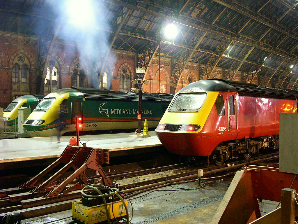 Midland Mainline Hsts London St Pancras Three High Speed