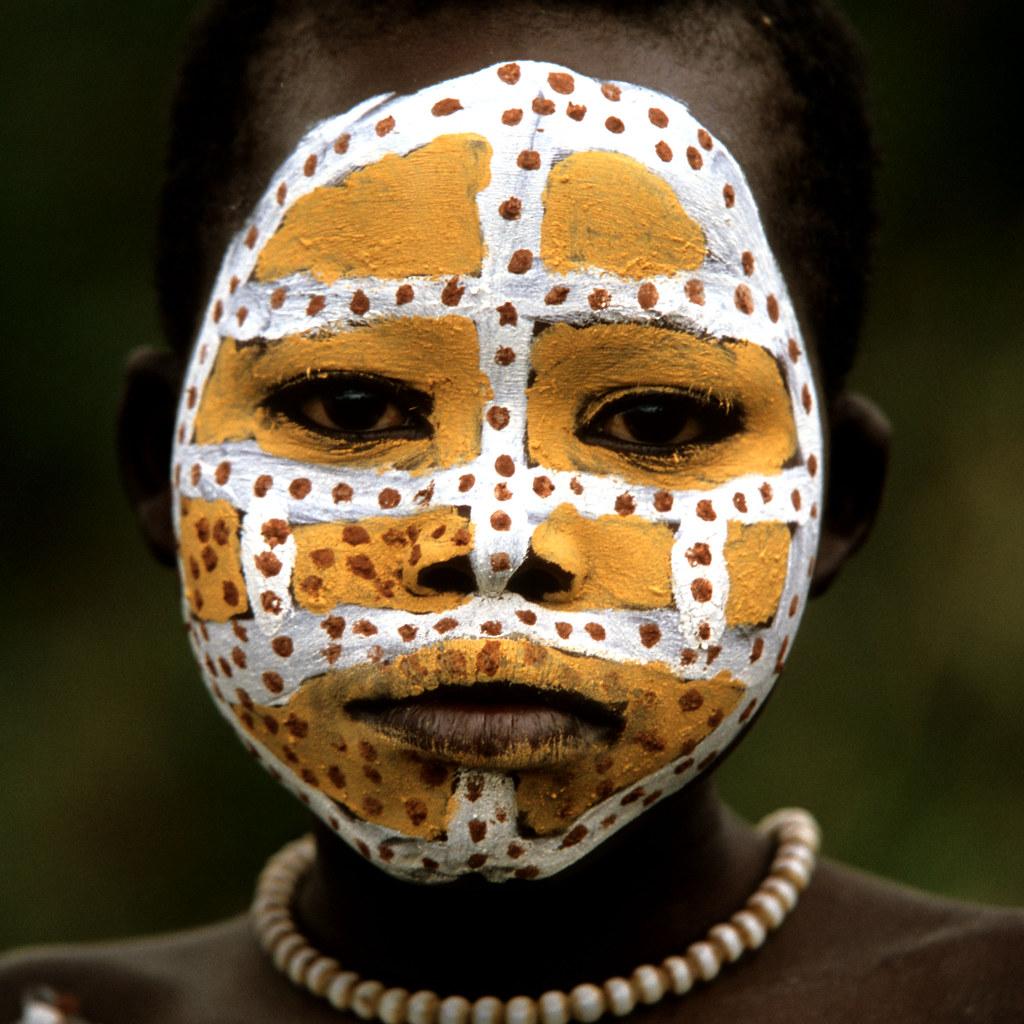 Tribal Face Paint Kid