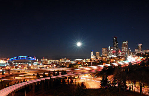 Seattle in the Moon Light | by David M Hogan