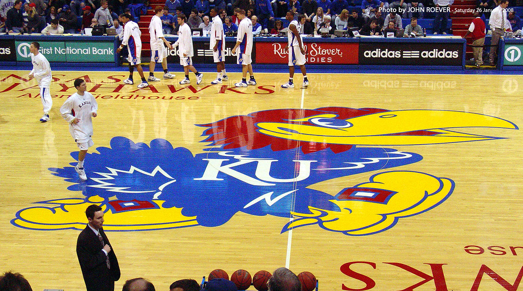 Image result for kansas jayhawk court on the