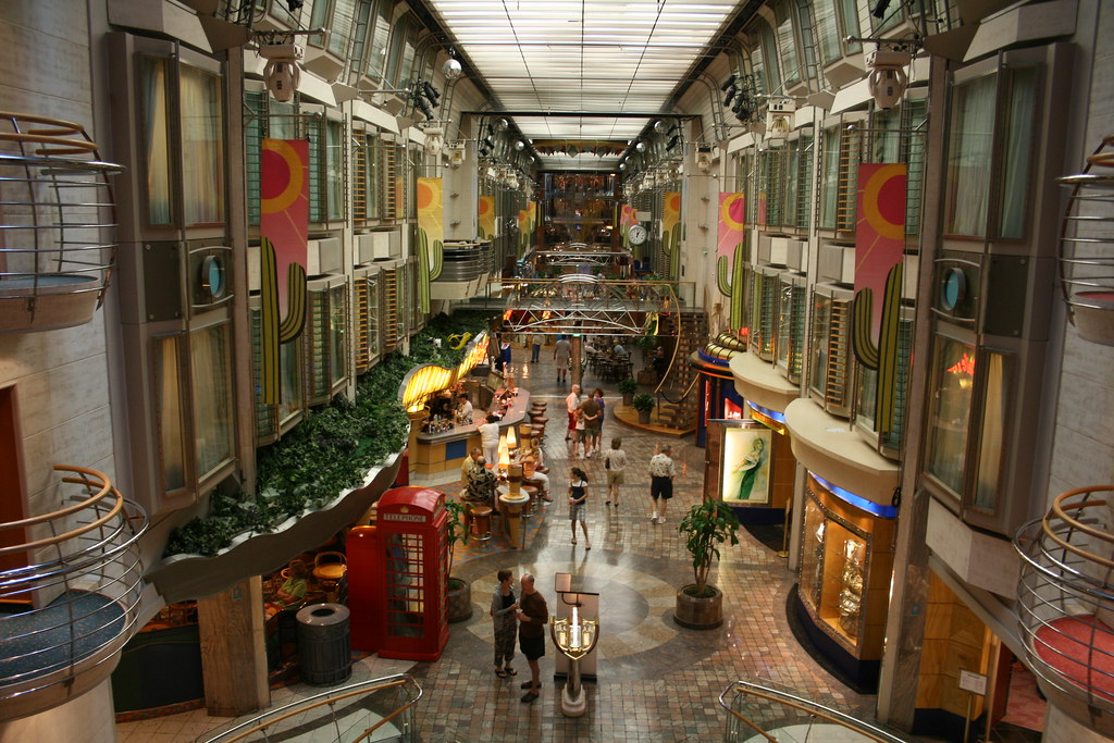 View Of The Royal Promenade Onboard The Rc Cruise Ship The