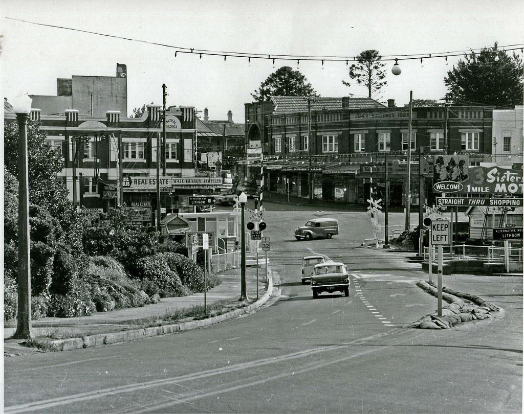 Railway Crossing And James Corner Katoomba C 1970 Flickr