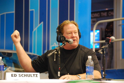Ed Schultz on Green 960 at the San Francisco International Auto Show | by Steve Rhodes