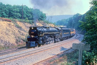 Chesapeake and Ohio 4-8-4 Lima-built 4-8-4 steam locomotive 614 on Chessie Steam Special on former Baltimore and Ohio tracks at the Summit of the Alleghanies, Altamont, Maryland, 1980 | by Ivan S. Abrams