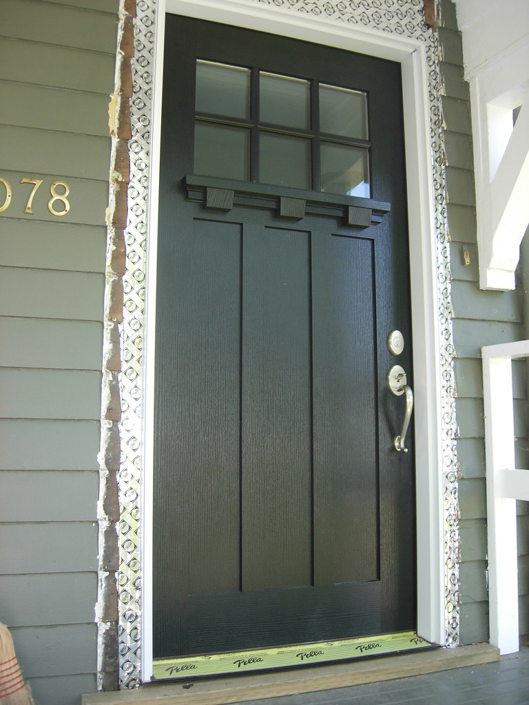 Exterior craftsman style door kelly hewat flickr for Exterior back door styles