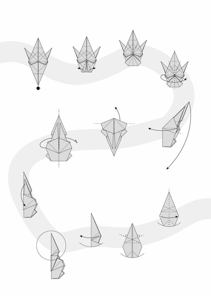 Origami Bear Diagram Polar Bear Diagram 03