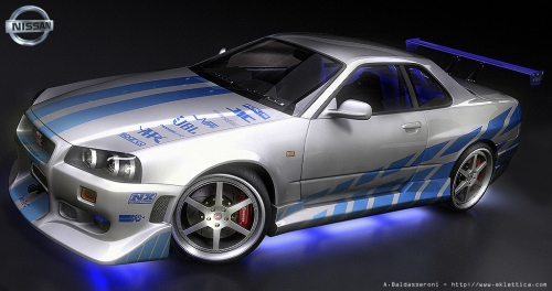 Hot Wheels Hobbys: Nissan Skyline Gtr R34 Fast And Furious 2