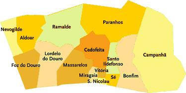 mapa freguesias concelho porto Concelho do Porto   Portugal | Mapa das freguesias | Jorge Bastos  mapa freguesias concelho porto