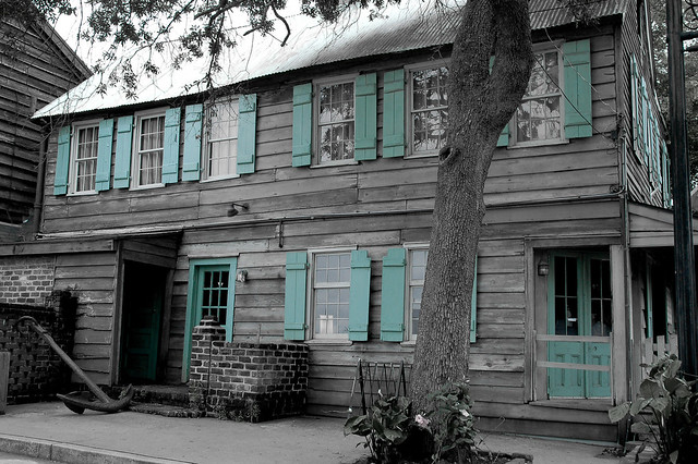 Pirates House Haint Blue Flickr Photo Sharing