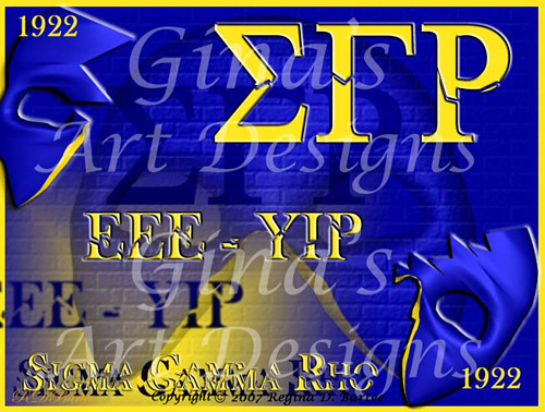 You Can T Stop Sigma Gamma Rho Location Gina S Art