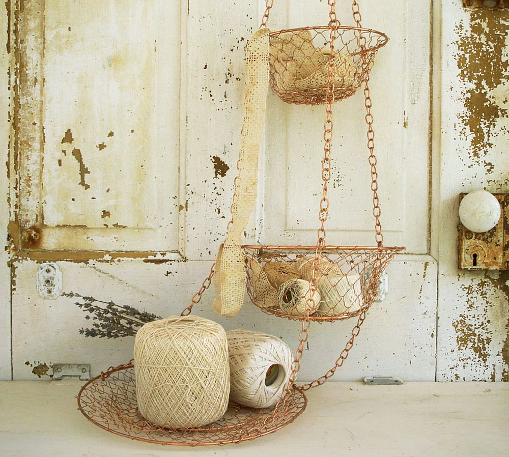 Vintage Wire Hanging Basket 3 Tier | Love The Look Of This Vu2026 | Flickr