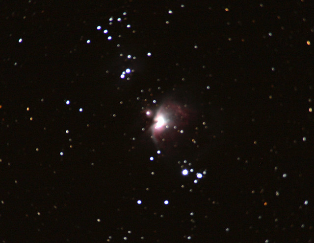 M42 Orion Nebula First Attempt At Astrophotography With