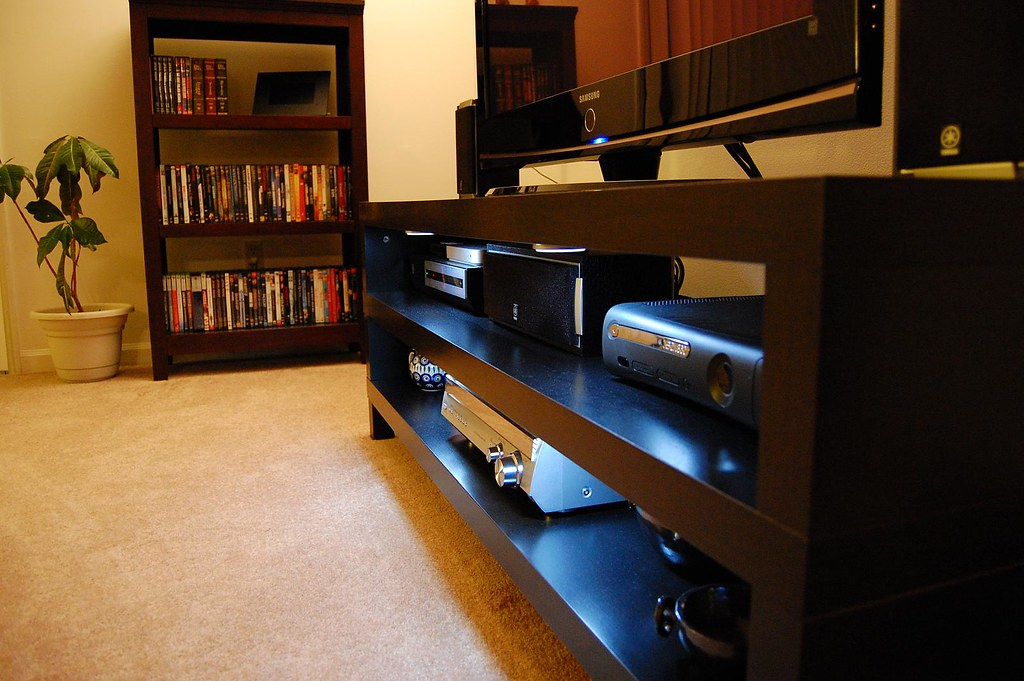 home theater home theater setup with 42 samsung plasma x flickr. Black Bedroom Furniture Sets. Home Design Ideas
