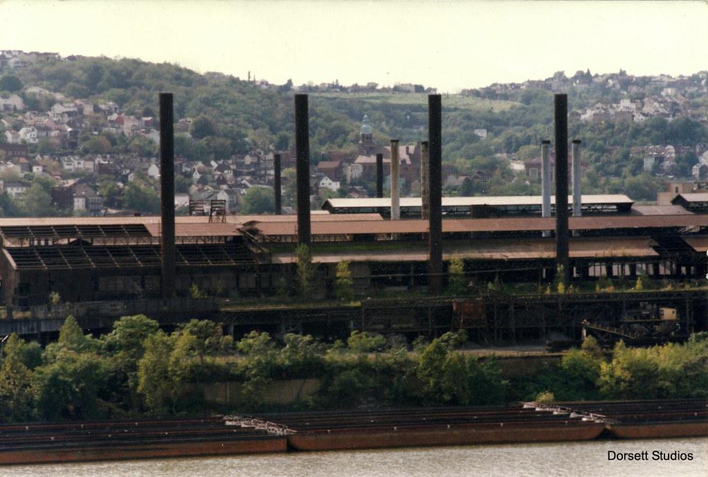 ... J.& L. Steel works, south side   by Dorsett Studios - J.& L. Steel Works, South Side A Scanned Color Print Photo… Flickr