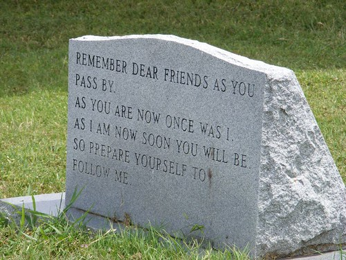 Headstone quote | by zombieerose