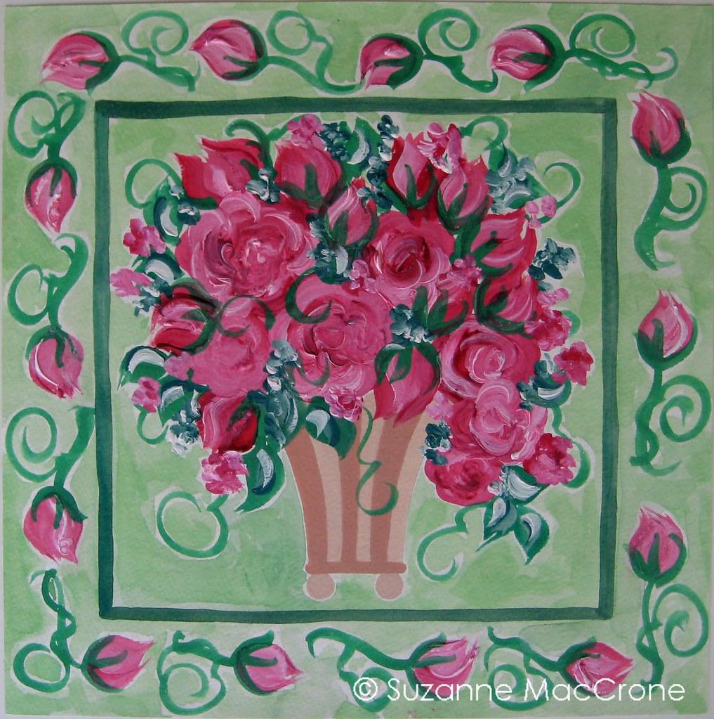 painter 39 s roses henri matisse original gouache painting flickr. Black Bedroom Furniture Sets. Home Design Ideas