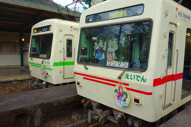 2017/02 叡山電車×きんいろモザイクPretty Days ラッピング車両 #23