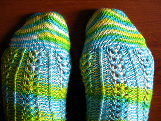 Hedera socks, finished | by unertlkm