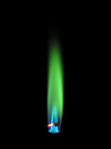 Boron Flame Color Boron Compounds Imparts A Green Color To Flickr