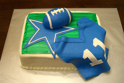 Cowboys Football & Jersey Cake | by Crazy Cake Lady