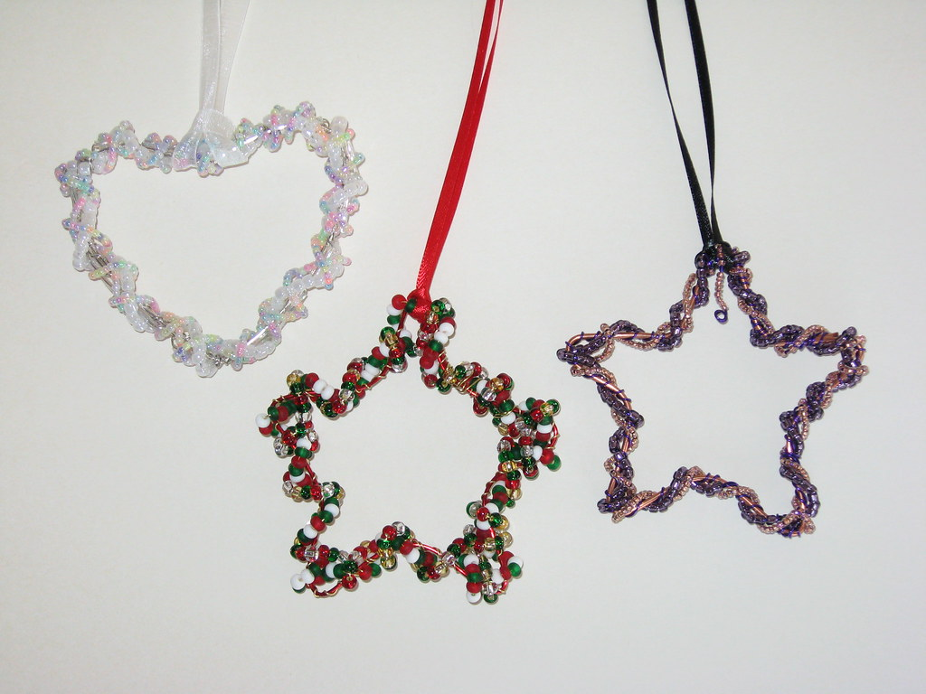 Beaded Wire Christmas Ornaments | Pixybug Designs | Flickr