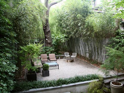 West village garden backyard 2 a garden my company did for Teich design west village