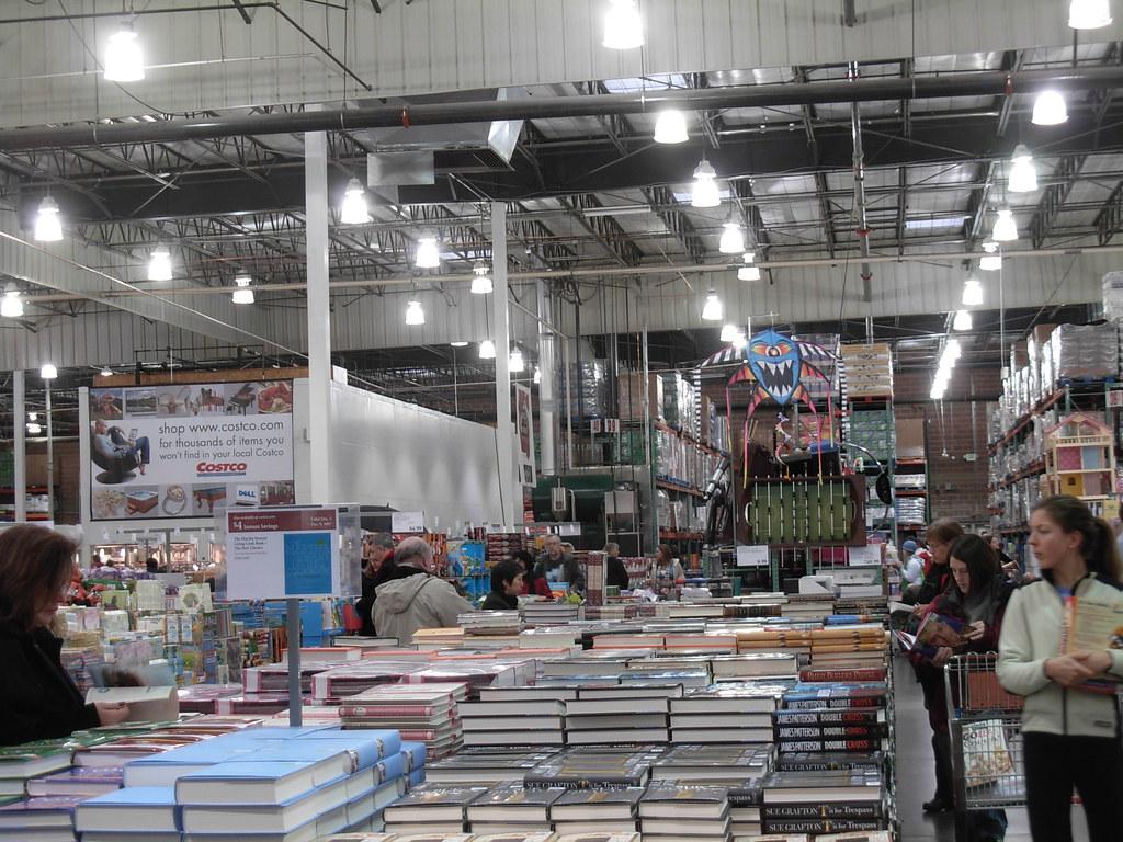 costco warehouse book stacks i have to say costco