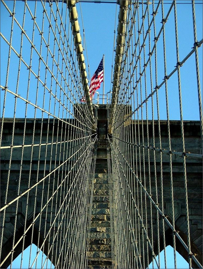 Toile d 39 araign e am ricaine le pont de brooklyn new - Toile pont de brooklyn ...
