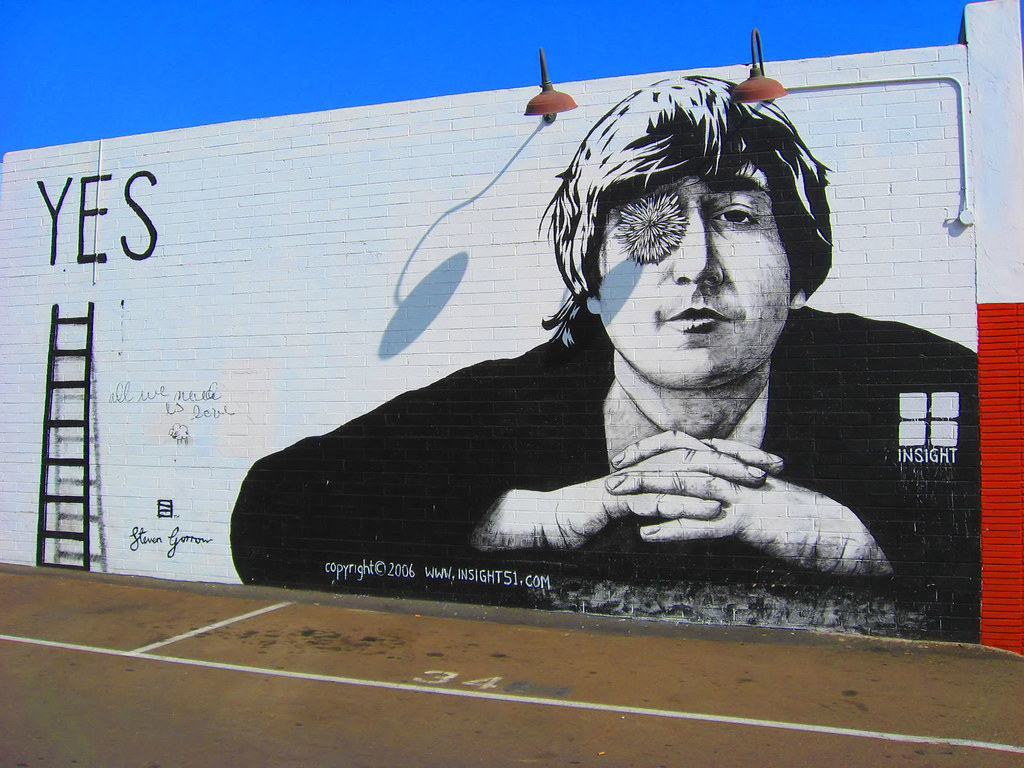 John Lennon MuralSan DiegoPacific Beach This is on Garne Flickr