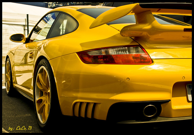 yellow porsche gt2 porsche gt2 lindooooooo perfeitooo ac flickr. Black Bedroom Furniture Sets. Home Design Ideas