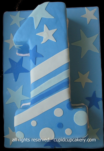 Number 1 Boy S Birthday Cake By Cupid Cupcakery Flickr