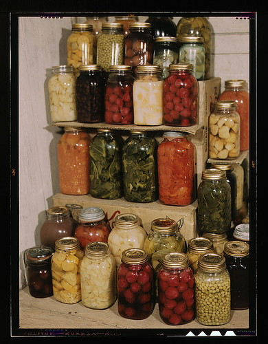 [Display of home-canned food]  (LOC) | by The Library of Congress