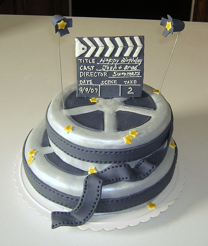 Movie Clapboard Cake