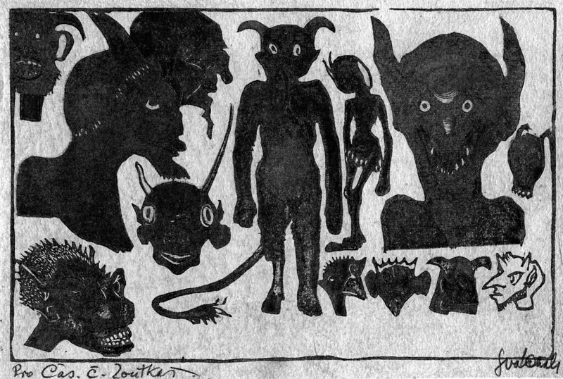 Josef Vachal - Demon Heads