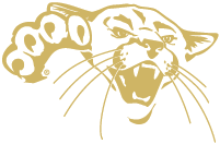 Cougar head thumbnail - gold