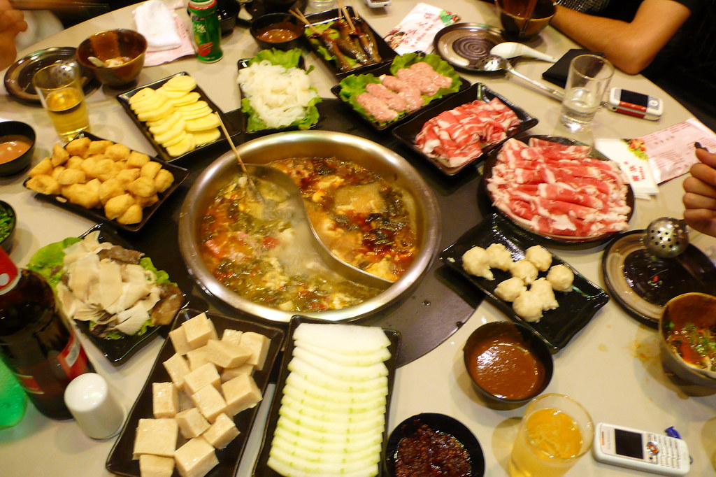 Hotpot Selection Laid Out All The Wonderful Food That