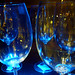 Blue wine glasses