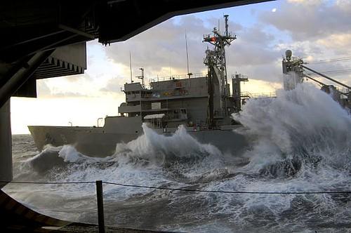 Rough Seas Rough Seas Pound The Hull Of Military Sealift