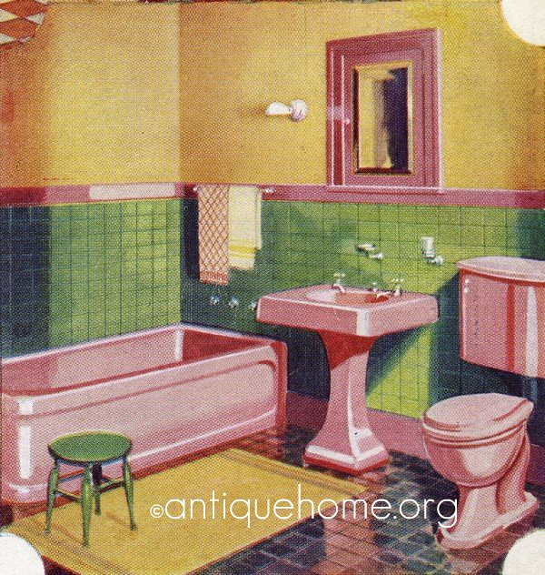 1930 bathroom gordon van tine 1930s pink bathroom for 1930 bungalow interior design