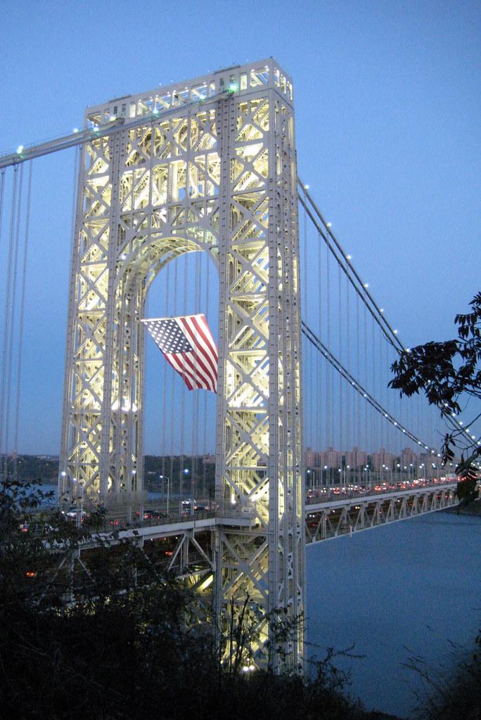 NJ - Fort Lee: George Washington Bridge at night | The Georg… | Flickr