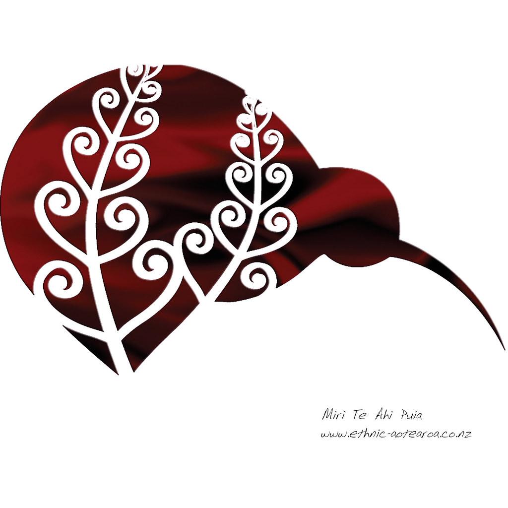 Maori Kiwi Tattoo: Maori Art - Silver Fern Kiwi